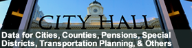 Financial Data for Cities, Counties and Pensions